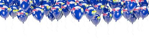 Ballonger inramar med flaggan av St Helena Royaltyfri Fotografi