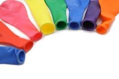 ballonger isolerade mångfärgat arkivfoto