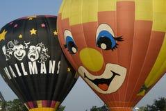 ballonger lanserar klart royaltyfri foto