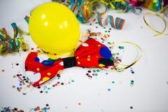 Ballonger med banderoller och donuts Royaltyfri Bild