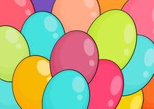 Ballonger med banret Arkivfoto