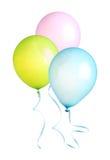 Ballonger med det isolerade bandet arkivfoto