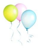 Ballonger med det isolerade bandet royaltyfri fotografi