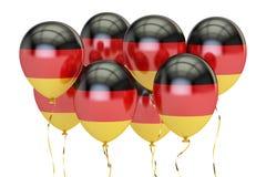 Ballonger med flaggan av Tyskland, holyday begrepp framförande 3d Arkivbild