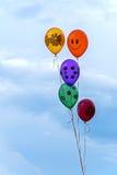 Ballonger med helium Royaltyfria Bilder