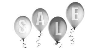 Ballonger med isolerad försäljningstext Arkivbilder