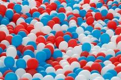 ballonger mycket Arkivbild