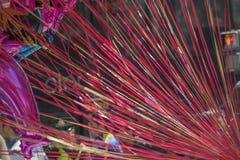 Ballonger och färgrika rader Fotografering för Bildbyråer