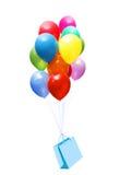 Ballonger och påse arkivfoto