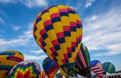 Ballonger på ballongfestivalen Fotografering för Bildbyråer