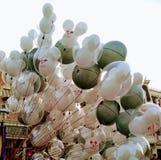Ballonger på Disneyland arkivbild