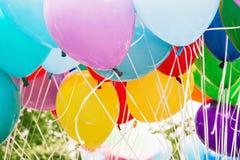 Ballonger parti, fritidsaktivitet, retro objekt Royaltyfria Foton