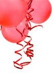 ballonger party red Arkivfoto
