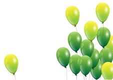 Ballonger rosa färgballong på vit bakgrund också vektor för coreldrawillustration royaltyfri illustrationer