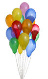 ballonger samlar ihop den färgrika heliumbanan Royaltyfri Foto