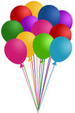 ballonger samlar ihop färgrikt Arkivfoton