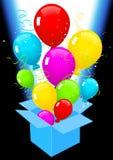 ballonger som ut flyger Arkivfoto