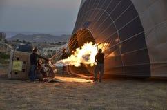 Ballonger tar flyg Arkivbilder