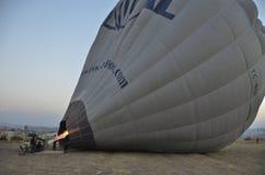 Ballonger tar flyg Royaltyfria Bilder