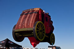 Ballonger Wells Fargo för varm luft Arkivbild