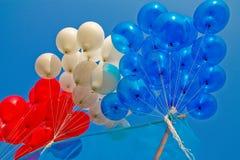 ballongfärger tre Fotografering för Bildbyråer