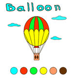 Ballongfärgläggningbok för barn och vuxna människor Arkivbild