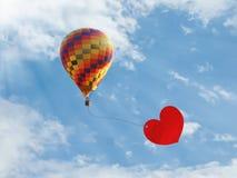 ballongförälskelse Arkivfoton