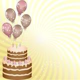 ballongfödelsedagskiva Royaltyfria Bilder