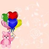 ballongfödelsedagskiva Royaltyfri Bild