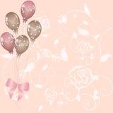 ballongfödelsedagskiva Fotografering för Bildbyråer