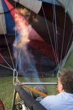 ballongfararegasbrännarefungerings arkivbild
