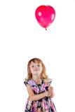 ballongflicka little Royaltyfri Fotografi