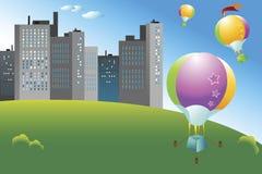 ballongflygande Arkivfoto