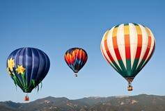 ballongflygandeberg Arkivfoton