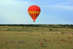 BallongflygMasai Mara Arkivfoto