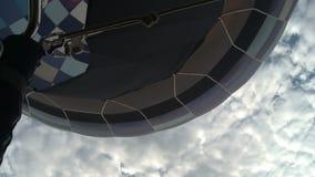 Ballonggasbrännareslut upp flyg- sikt lager videofilmer