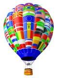 ballongglobaliseringsymbol Arkivfoto