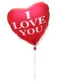 ballonghjärta älskar jag dig Royaltyfri Bild