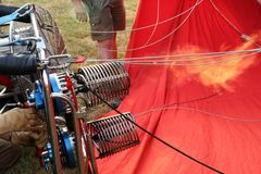 ballongpåfyllning arkivbild
