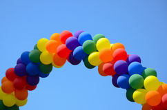 ballongregnbåge arkivfoto
