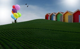 Ballongträdet Fotografering för Bildbyråer