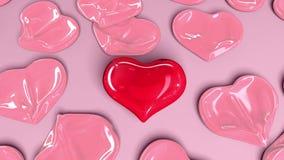 Ballonhart, de belangrijkste liefde stock videobeelden