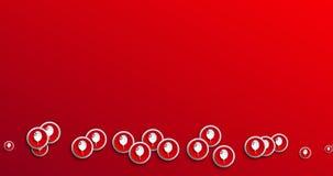 Ballonikonen-Bewegungshintergrund der Animation moderner abstrakter stock abbildung