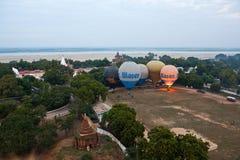 Balloning in Bagan, Myanmar stock afbeelding