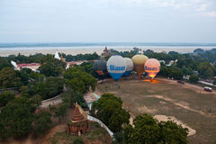 Balloning in Bagan, Myanmar stock image