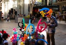 Ballonkunst - het Queenswandelgalerij van Brisbane Royalty-vrije Stock Afbeeldingen