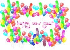 Ballonparty des glücklichen neuen Jahres Lizenzfreie Stockfotografie