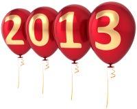 Ballonpartydekoration des neuen Jahres 2013 Lizenzfreie Stockbilder