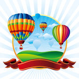 Ballons à air chauds Photographie stock