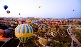 Ballons à air chauds images libres de droits